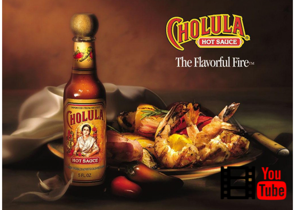 YouTube video Cholula Sauce