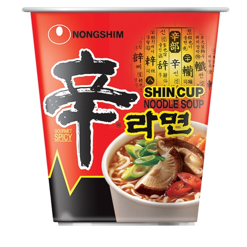 Instant Shin Noodles Hot & Spicy (Cup)